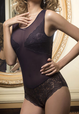 Body dentelle shorty violet Midnight Luna