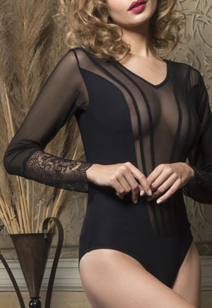 Body manches longues Midnight noir Luna
