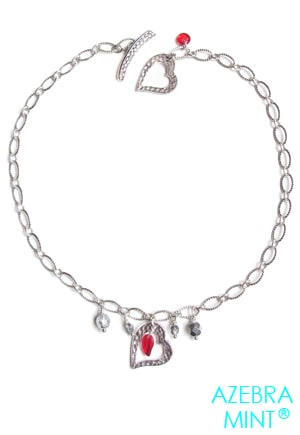 Collier coeur rouge Anduze