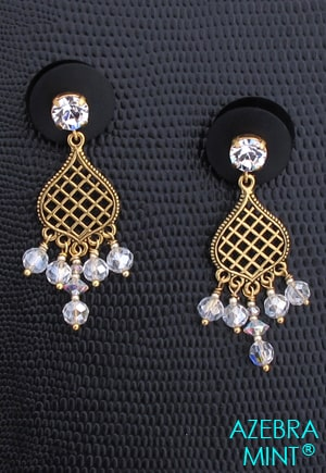 Boucles d'oreille cristal brillant