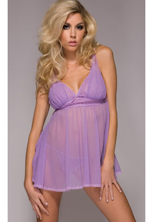 Nuisette lilas voile Marilyn