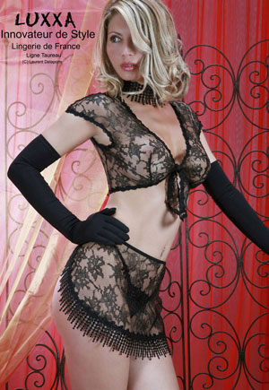 Lingerie Taureau tulle brodé collection luxe