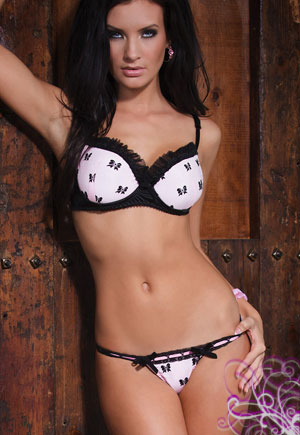 Soutien gorge rose bonnet push up