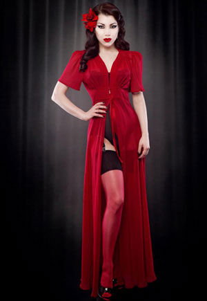 Robe majestueuse Elle SOIE rouge