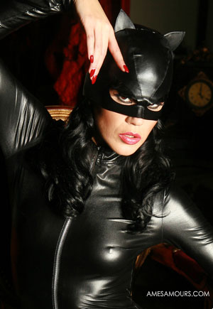 Masque cat woman cuir simili Chat