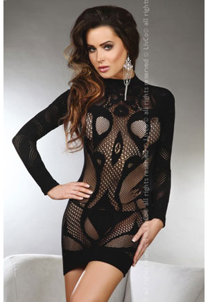 Robe sexy tunique manches longues