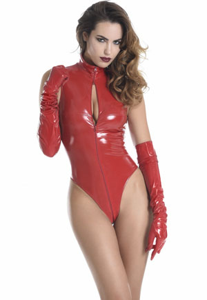 Body string Manon vinyl rouge Catanzaro