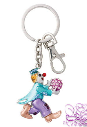 Porte clef clown strass