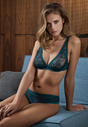 Soutien gorge triangle multipositions Eternity vert Lisca