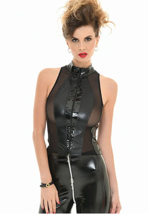 Top Audrey transparent zippé Catanzaro