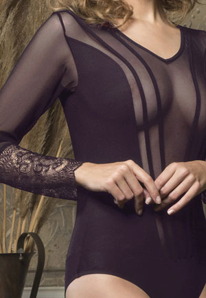 Body manches longues Midnight violet Luna