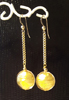 Boucles dorée perle feuille or Murano