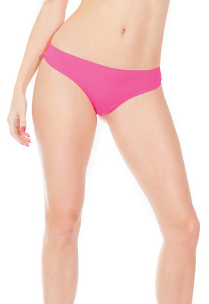 Tanga microfibre rose fluo sans couture