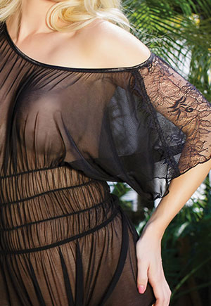 Body transparent dentelle coupe loose
