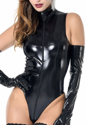 Body string Manon vinyl noir Catanzaro